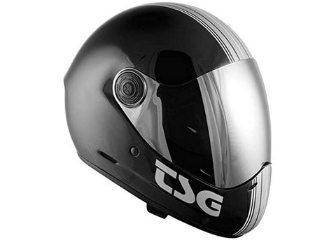 Casque TSG The Pass Pro Silverstripe (+Bonus Visor)
