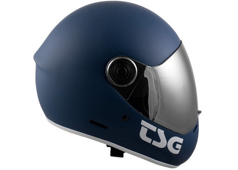 Casque TSG The Pass Solid Color Matt Blue (+Bonus Visor)