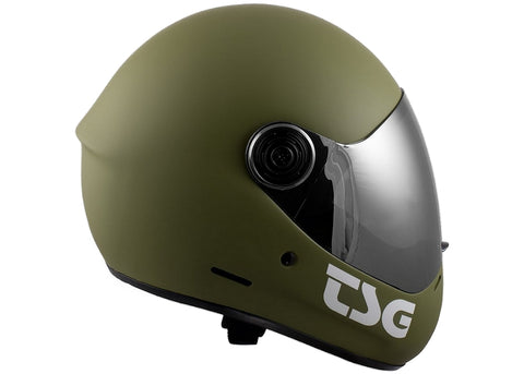 Casque TSG The Pass Solid Color Matt Olive (+Bonus Visor)