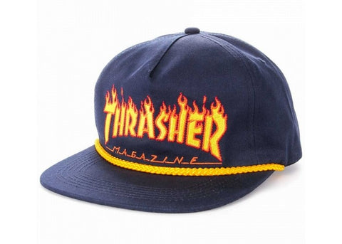 Thrasher Flame Rope Snapback Navy
