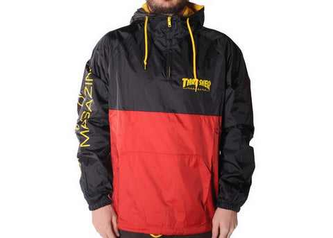Thrasher Mag Logo Anorak Jacket Black/Red