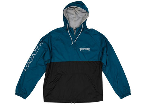 Thrasher Mag Logo Anorak Jacket Navy/Grey