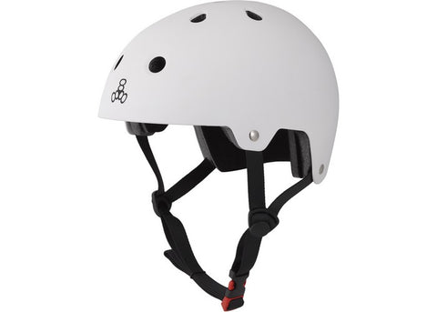 Casque Triple 8 Dual Certified White Rubber