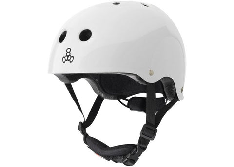 Casque Triple 8 Lil 8 White Glossy