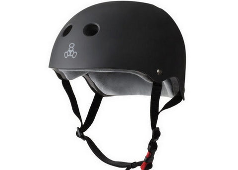 Casque Triple 8 Certified Sweatsaver Black Rubber