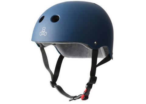 Casque Triple 8 Certified Sweatsaver Navy Rubber