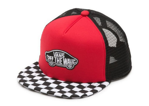 Vans Boys Classic Patch Trucker Cap Racing Red