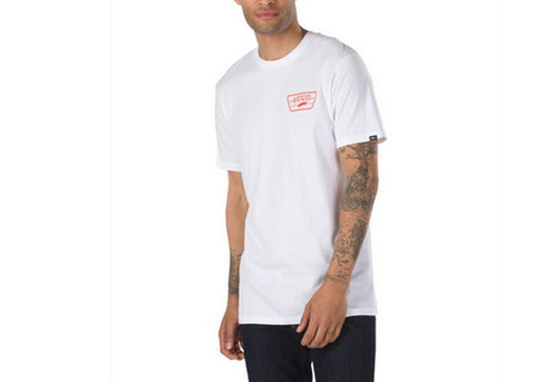 Vans Full Patch Back T-Shirt White/Flame