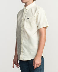 RVCA Boys That'll Do Stretch Shirt Light Yellow