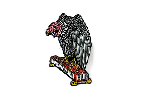 Black Label Vulture Curb Club Pin