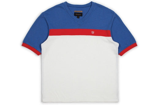 Brixton Substance S/S Tee White /Royal