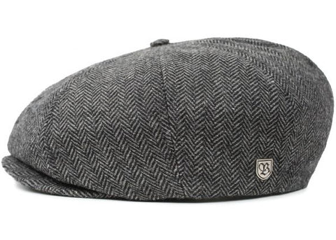 Brixton Brood Snap Cap Grey Black