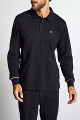 Brixton Carlos L/S Polo Black/White