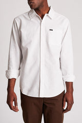 Brixton Charter Oxford L/S Off White