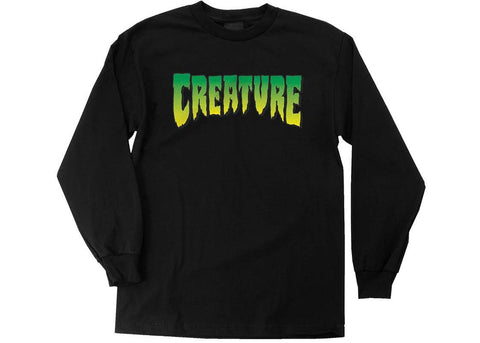 Creature Logo L/S T-Shirt Black