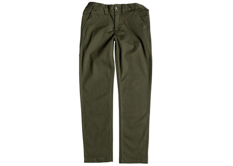 DC  Kid's Worker Straight Chinos Fatigue Green