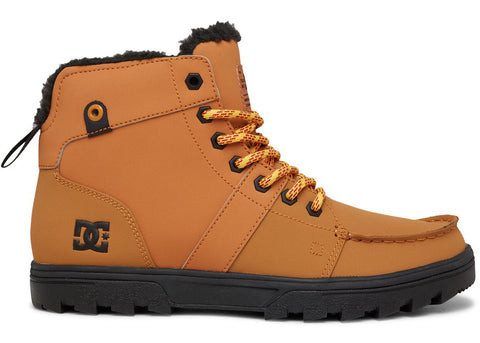 DC Woodland Leather Laced-Up Winter Boots Wheat