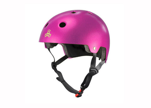 Casque Triple 8 Dual Certified Metallic Pink