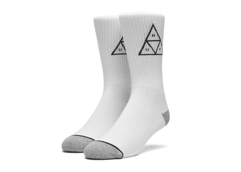 Huf Triple Triangle Crew Sock White