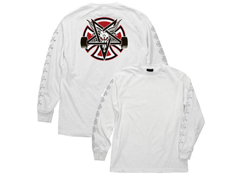 Independent X Thrasher Pentagram Cross L/S T-shirt White