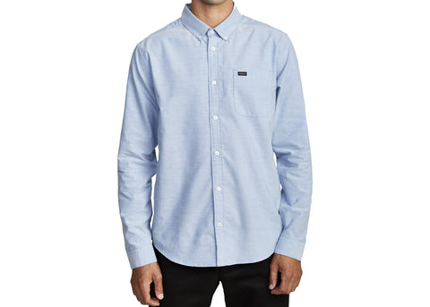 RVCA That'll Do Stretch L/S Shirt Distant Blue