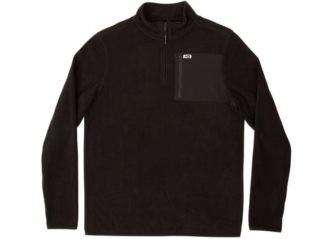 Salty Crew Northern Quarter Zip Fleece Black