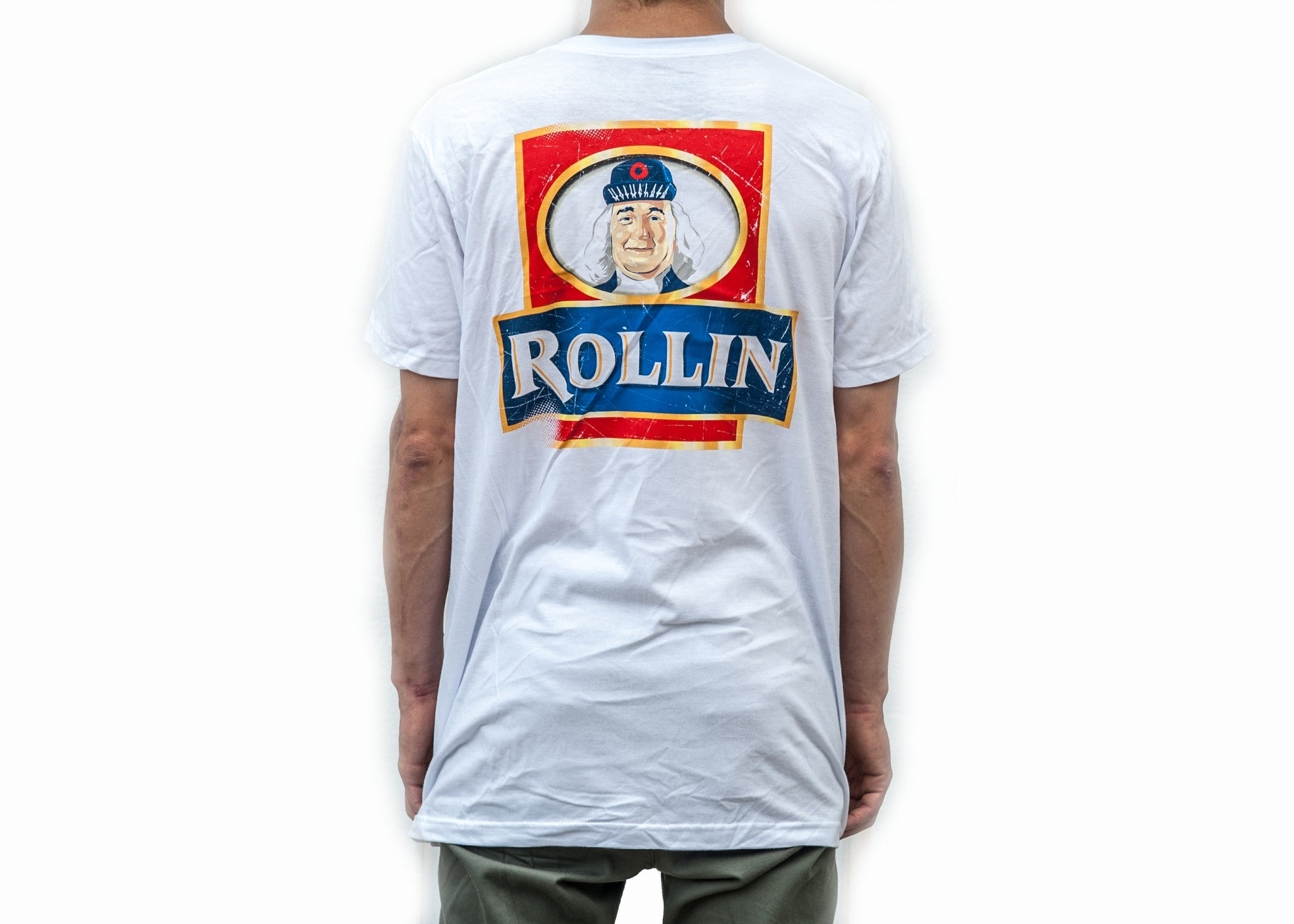 Rollin Quaker white t-shirt