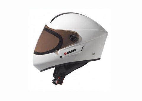 Casque Triple 8 Racer Downhill blanc