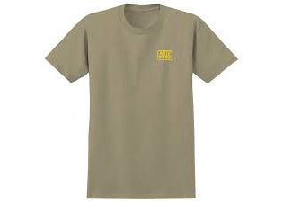 AntiHero Reserve S/S Tee Sand with Yellow Print