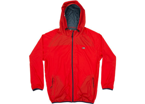 Salty Crew Seawall Packable Jacket Red