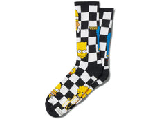 Vans X The Simpsons Family Checkerboard Socks