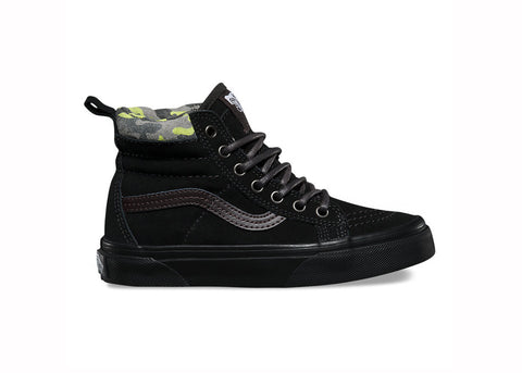Vans Youth Sk8-Hi MTE Black Lime Punch