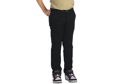 Dickies Boys' Flex Skinny Fit Straight Leg Pants Black