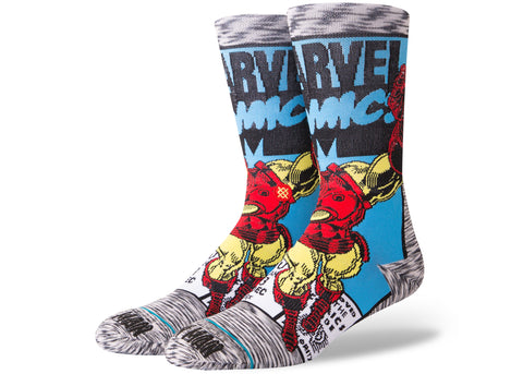 Stance Marvel Iron Man Comic Grey