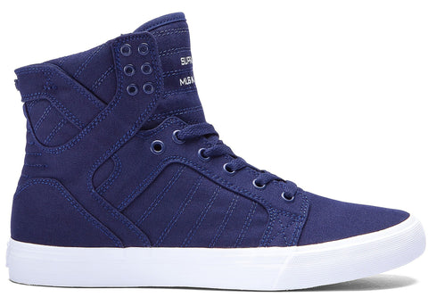 Supra Skytop Navy Star White