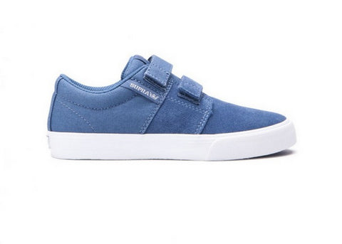 Supra Kid Stacks Vulc 2 Velcro Slate/White