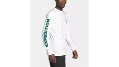 The North Face Double Sleeve Graphic LS TNF White/Evergreen