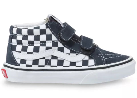 Vans Youth Sk8-Mid Reissue V Checkerboard India Ink True White