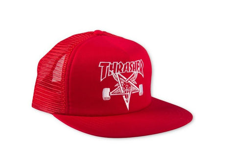 Thrasher Cap Skate Goat Mesh Red/White