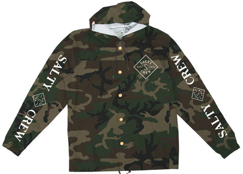 Salty Crew Tippet Cover Up Snap Jacket Camo