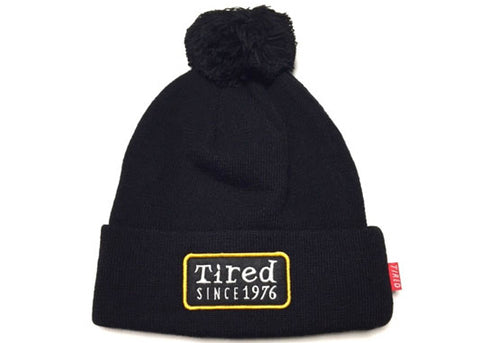 Tired Since 1976 Beanie Black