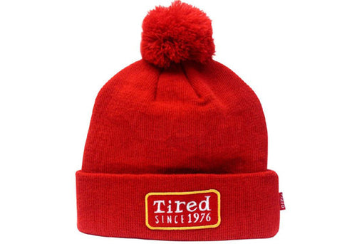 Tired Since 1976 Beanie Red