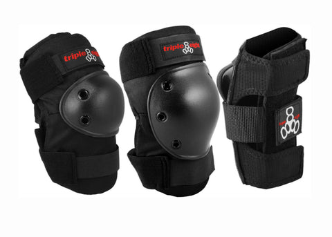 Triple 8 High Impact 3 Pack Black
