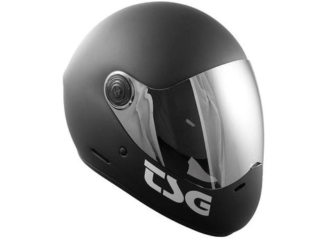 Casque TSG The Pass Solid Color Matt Black (+Bonus Visor)