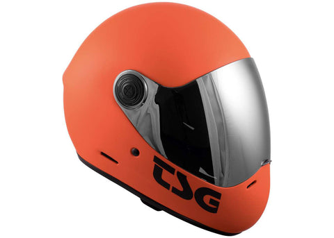 Casque TSG The Pass Solid Color Matt Orange (+Bonus Visor)