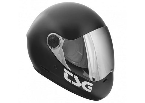 Casque TSG The Pass Solid Color Satin Black (+Bonus Visor)