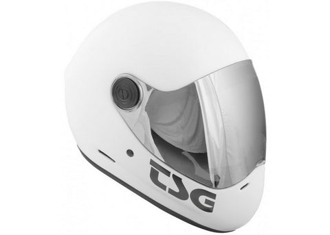 Casque TSG The Pass Solid Color Satin White (+ Bonus Visor)
