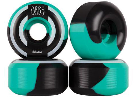 Welcome Orbs Apparitions Split Teal Black 99a 56mm