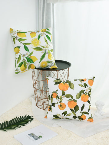 Orange Print Cushion Cover 1pc - Urban Collective