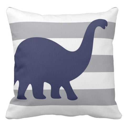 Dino Rawr Decorative Pillow Case 16 x 16 Inch - Urban Collective